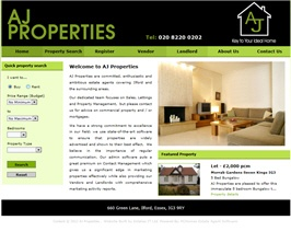 Basic Web Site - www.aj-properties.co.uk