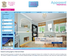 Pro Web Site - www.apparentproperties.com