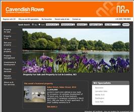 Bespoke Web Site - www.cavendishrowe.com