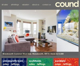 Bespoke Web Site - www.cound.co.uk