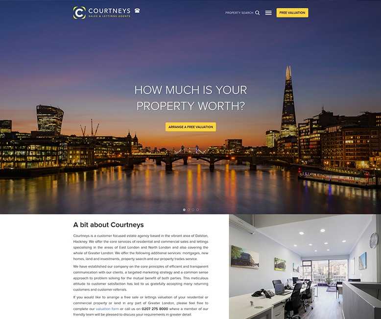 Bespoke Web Site - www.courtneys-estates.com