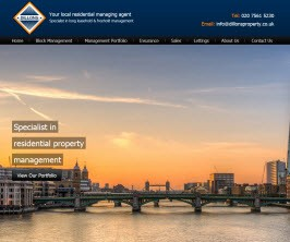 Bespoke Web Site - www.dillonsproperty.co.uk/