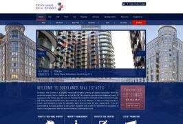 Bespoke Web Site - www.docklandsrealestates.com/