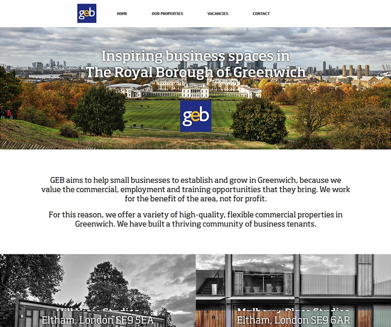 Bespoke Web Site - www.geb.co.uk