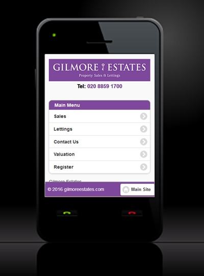Gilmore Estates - New Estate Agent Mobile Website Launched