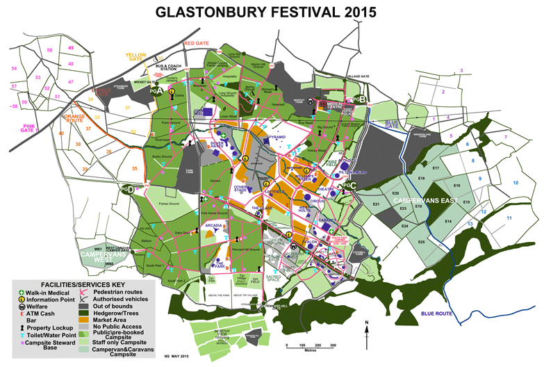 Glastonbury Site Map