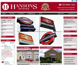 Pro Web Site - www.hansonsestates.co.uk