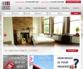 Locus Estates - New Estate Agent Website Launched