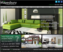 Pro Web Site - www.mapesburyproperty.co.uk/