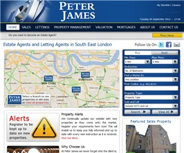 Bespoke Web Site - www.peterjamesestates.co.uk