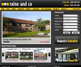 Bespoke Web Site - www.raineandco.com