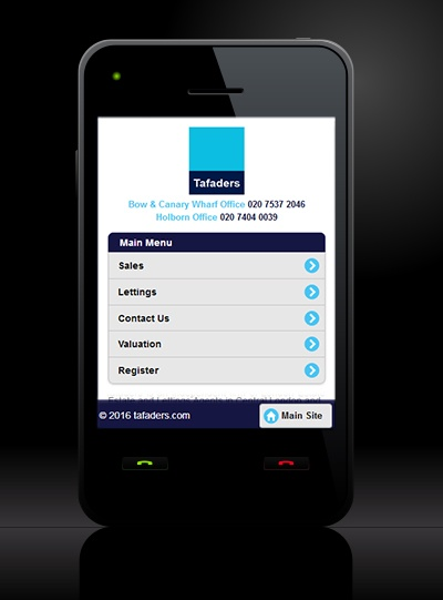 Tafaders - New Estate Agent Mobile Website Launched