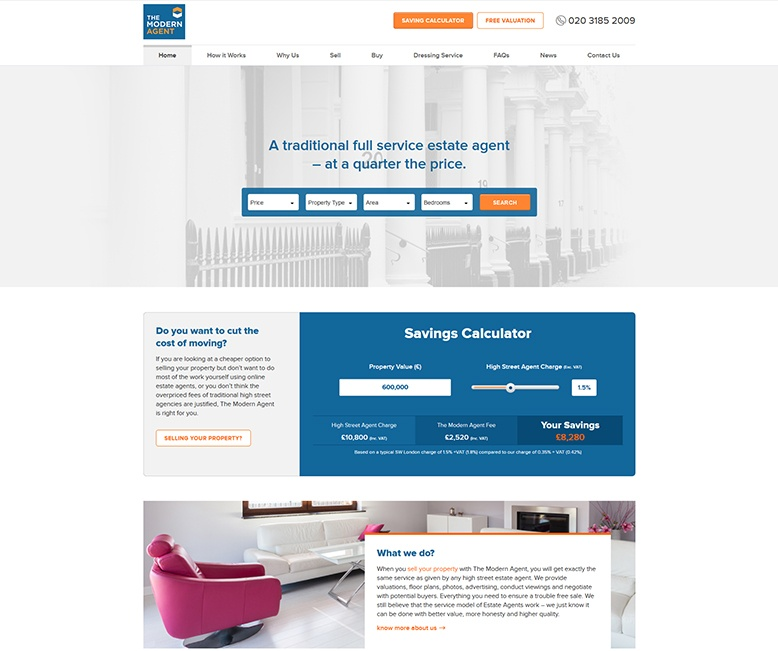 The Modern Agent responsive website