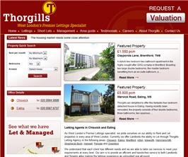 Bespoke Web Site - www.thorgills.com