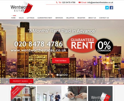 Wentworth Estates - New Estate Agent Website Launched
