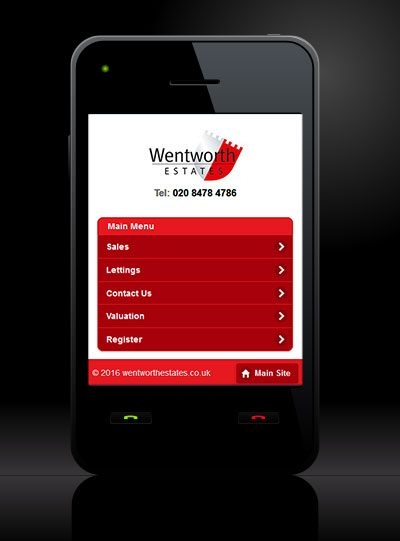 Wentworth Estates - New Estate Agent Mobile Website Launched