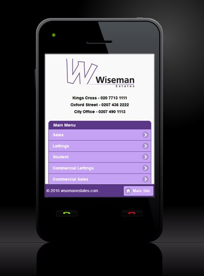 Wiseman Estates - New Estate Agent Mobile Website Launched