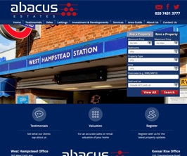 Bespoke Web Site - www.abacusestates.com/