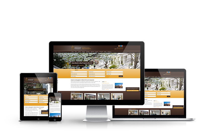Admiral Property Partnership  - New Estate Agent Website Launched