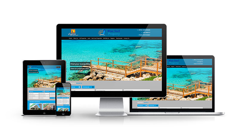 Blue Surf Property - New Estate Agent Website Launched