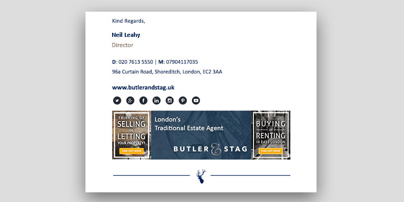 Butler & Stag Bespoke Email Signature