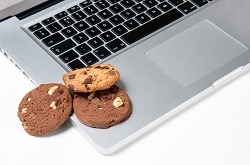 Cookies on laptop