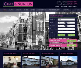 Bespoke Web Site - www.crayandnorton.co.uk/
