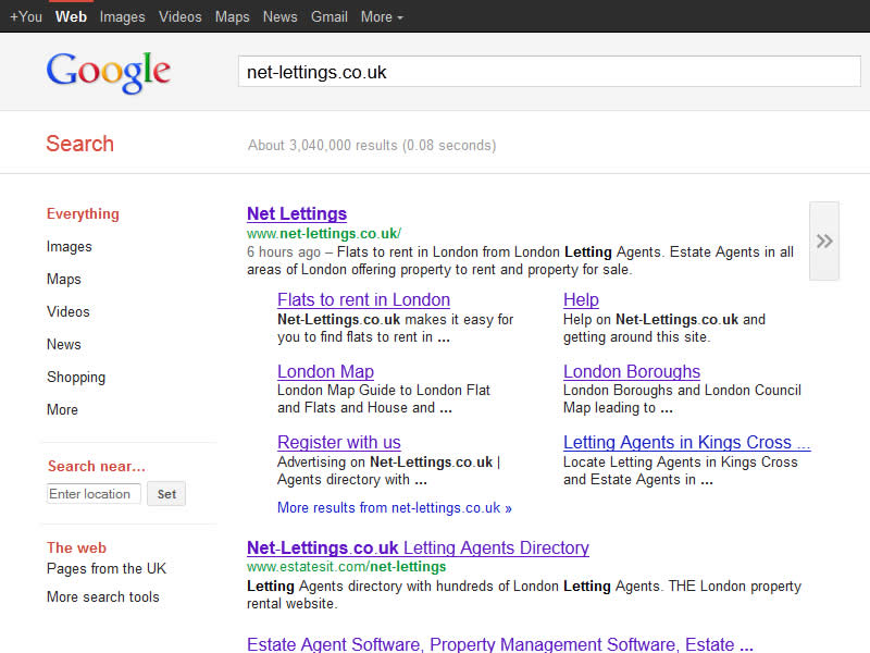 Estate Agent Website - SEO (Search Engine Optimisation)