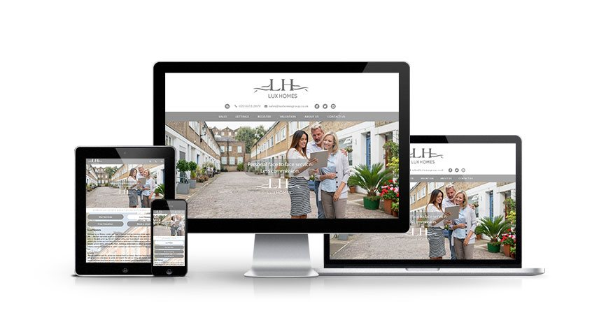 Lux Homes - New Estate Agent Website Launched
