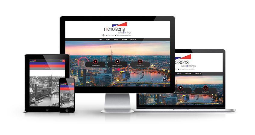 Nicholsons Estates - New Estate Agent Website Launched