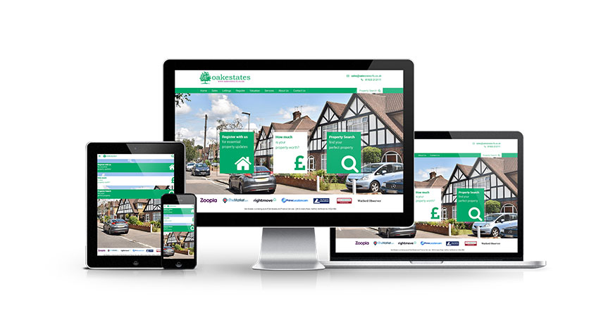 Oak Estates - New Estate Agent Website Launched