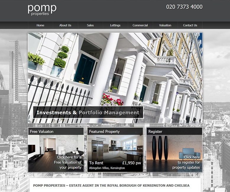 Pomp Properties - New Estate Agent Website Launched