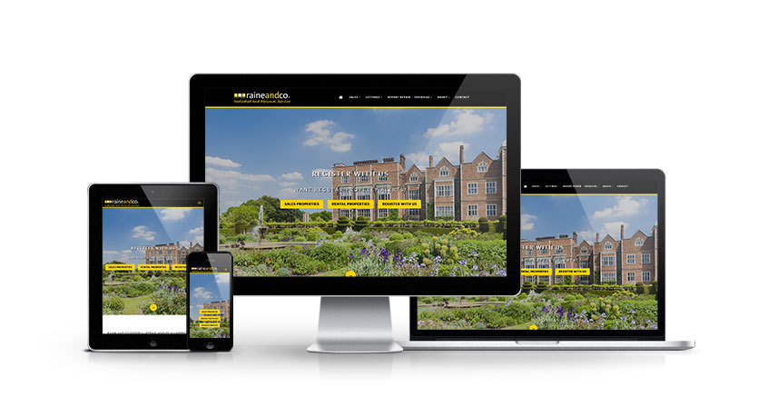 Raine and Co - New Estate Agent Website Launched