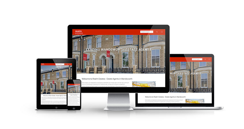 Realm Estates - New Estate Agent Website Launched