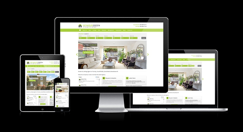 Seymour Green - New Estate Agent Responsive Website Launched