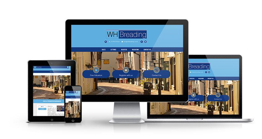 WH Breading - New Estate Agent Website Launched